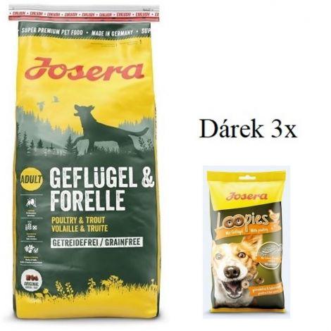 Josera 15kg Geflügel/Forelle  (3x 950637 A)