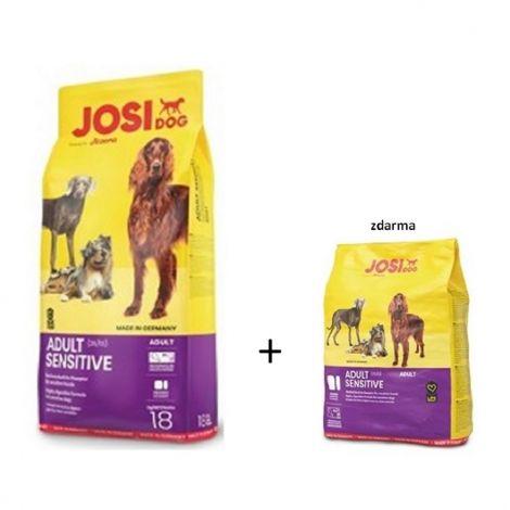 JosiDog 18kg Sensitive Adult 15kg+3kg zdarma