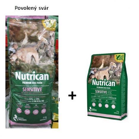 Poškozené Nutrican 15kg Sensitive dog + 3kg zdarma