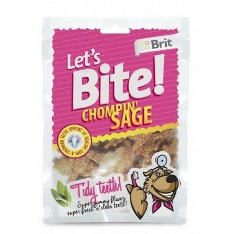 Expirace Brit Let´s Bite Chompin sage 150g dental kousky se šalvějí/10ks