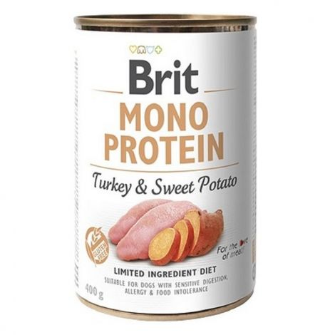 Expirace Brit Mono Protein 400g Turkey+Sweet Potato/6ks