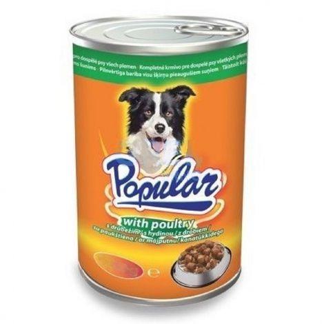 Popular 415g dog drůbeží kousky v omáčce 1ks/10ks 94
