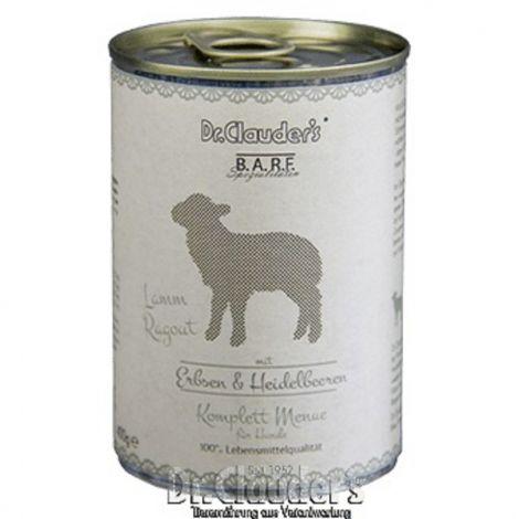 Dr.Cl.BARF 400g Komplettmenue Lammragout dog