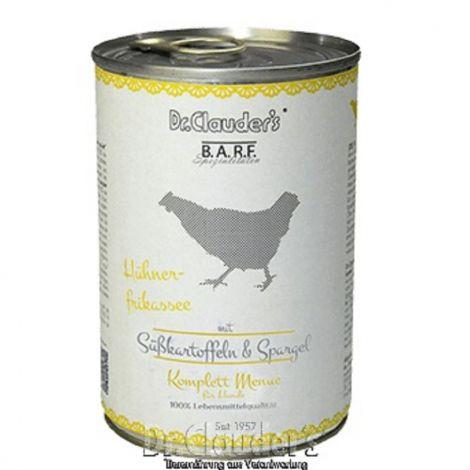 Dr.Cl.BARF 400g Komplettmenue Hühnerfrikassee dog