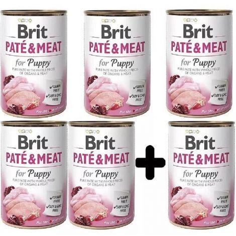 Brit Paté Meat 400g Puppy 5+1