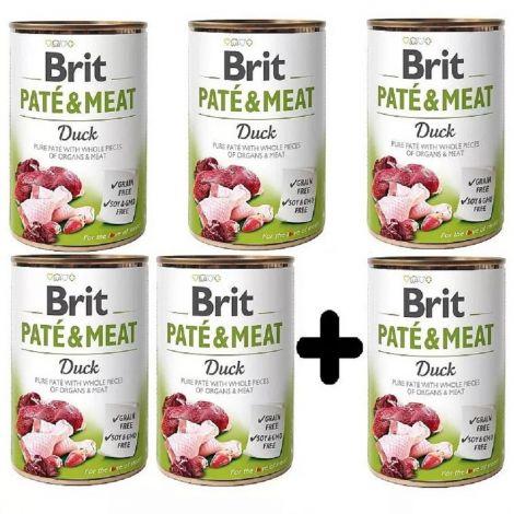 Brit Paté Meat 400g Duck 5+1