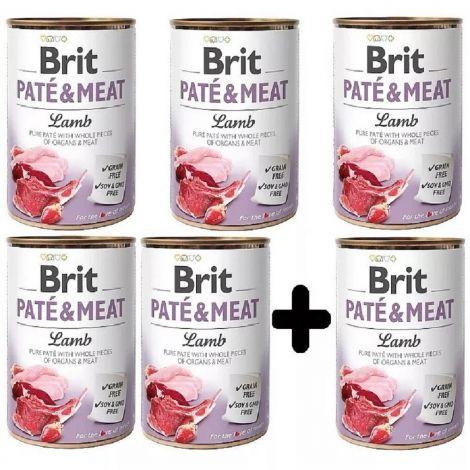 Brit Paté Meat 400g Lamb 5+1