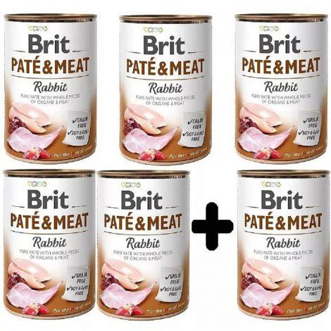 Brit Paté Meat 400g Rabbit 5+1
