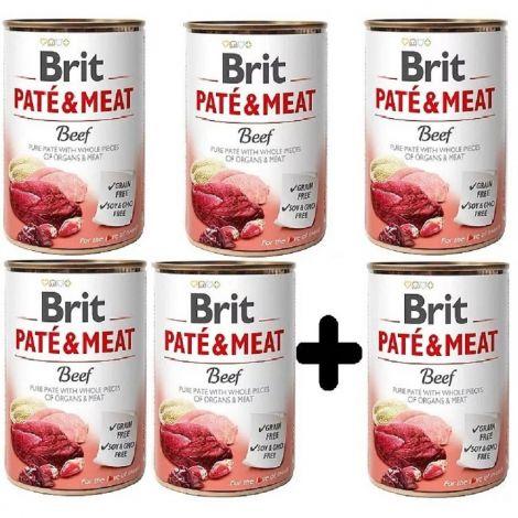 Brit Paté Meat 400g Beef 5+1