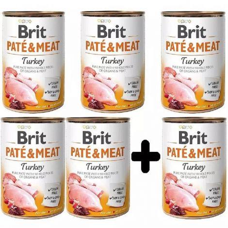 Brit Paté Meat 400g Turkey 5+1