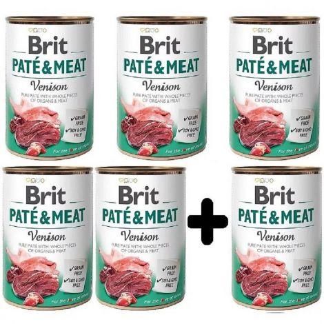 Brit Paté Meat 400g Venison 5+1
