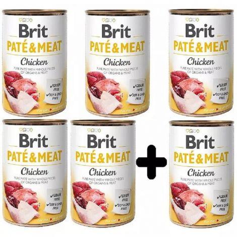 Brit Paté Meat 400g Chicken 5+1