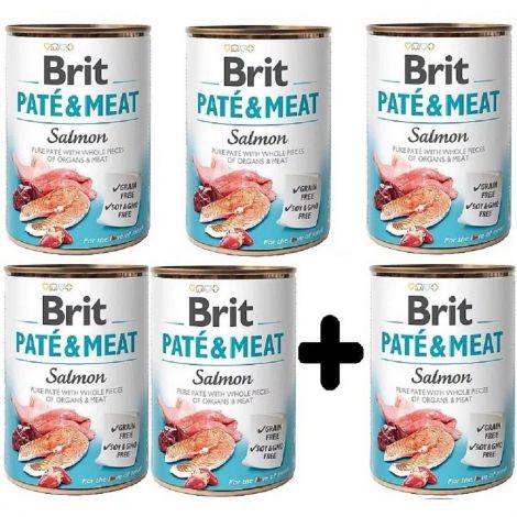 Brit Paté Meat 400g Salmon 5+1