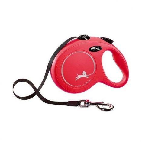 Flexi New Classic L 5 m do  50 kg červená/pásek