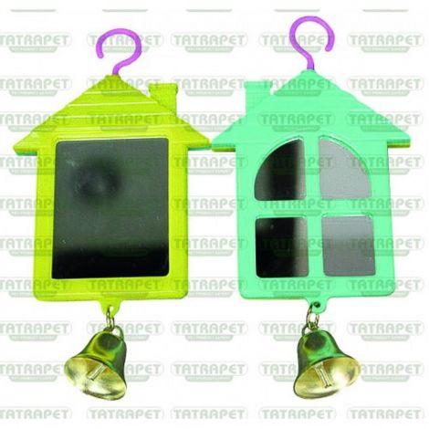 Ptačí zrcátko ve tvaru domku se zvonkem Tatrapet