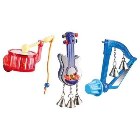 Ptačí hračka hudební nástroj 8cm Karlie