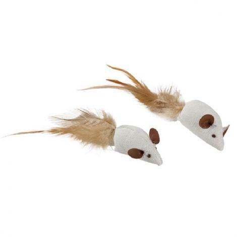 Myšky  sisal s peřím 5cm  2ks/bal.