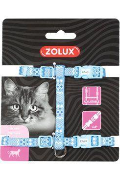 Postroj kočka ETHNIC nylon modrý Zolux