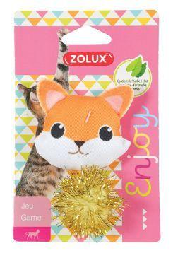Hračka kočka LOVELY s šantou liška Zolux