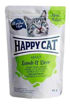 Happy Cat kapsa Meat in Sauce Adult Jehně a játra 85g