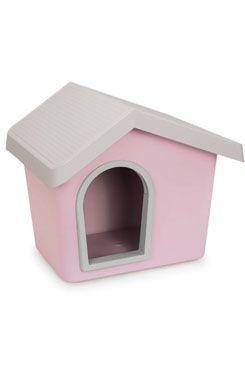 Bouda pro psa plastová růžová 53x46x47,6cm IMAC