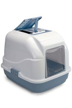 WC kočka s filtrem a lopatkou modrá 50x40x40cm