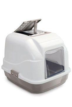 WC kočka s filtrem a lopatkou šedá 62x49,5x47,5cm