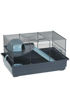 Klec myš INDOOR 2 40cm modrá/šedá s výbavou Zolux