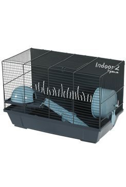 Klec křeček INDOOR 2 50cm modrá/šedá s výbavou Zolux