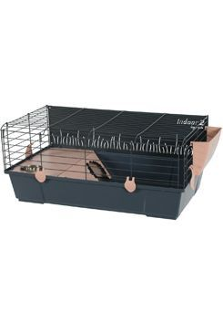 Klec morče INDOOR 2 80cm losos/šedá s výbavou Zolux