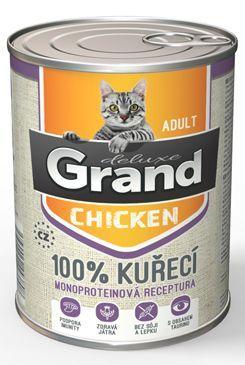 GRAND konz. kočka deluxe 100% drůbeží 400g
