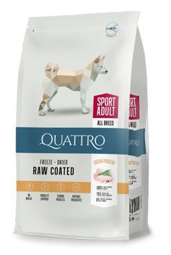 QUATTRO Dog Dry Premium All Breed ACTIVE Adult 12kg