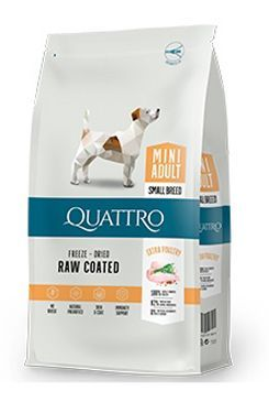 QUATTRO Dog Dry Premium Mini Adult Drůbež 7kg