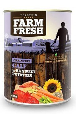 Farm Fresh Dog Calf with Sweet Potatoes konzerva 400g
