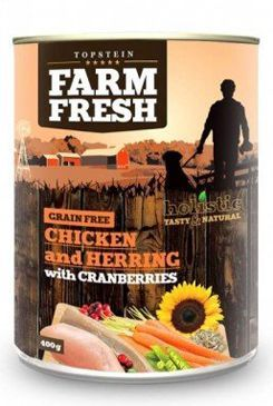 Farm Fresh Dog Chicken&Herring+Cranberries konzer 800g