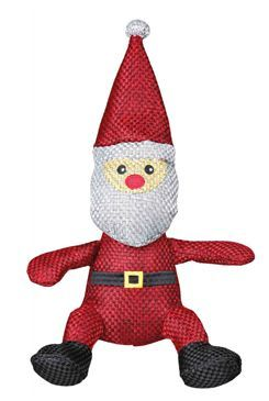 Vánoční Hračka pes Santa Claus z vlněné látky TR 1ks