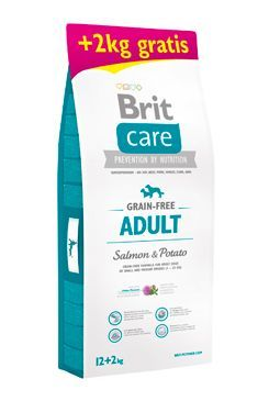 Brit Care Dog Grain-free Adult Salmon & Potato 12+2kg