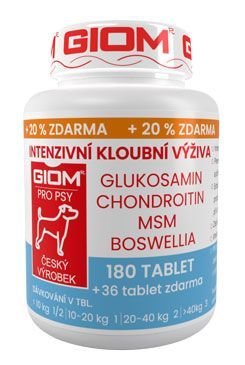 Giom pes Intenzivní kloubní výživa 180 tbl+20%zdarma