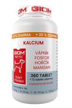 Giom pes Kalcium 360 tbl+20% zdarma