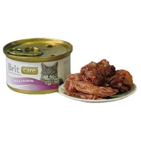 Brit care 80g cat tuna+salmon/24ks