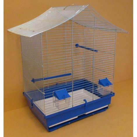 Klec papoušek pozink stanová střecha 54,5x40x63cm