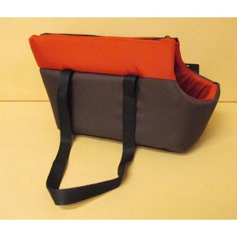 Taška Basic Duo 35x20x24cm tm.hnědá+červená
