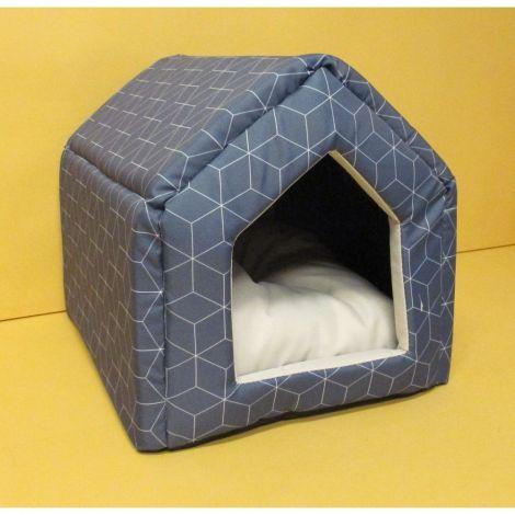 Domek s pol.Modern 50x38x40cm modrá kostka