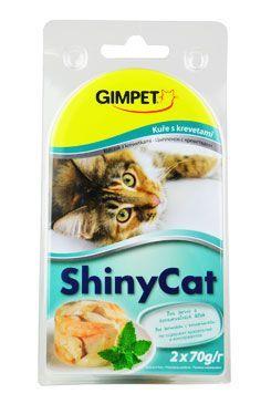 Gimpet kočka konz. ShinyCat  kuře/krevety 2x70g