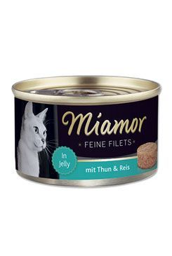 Miamor Cat Filet konzerva tuňák+rýže v želé 100g