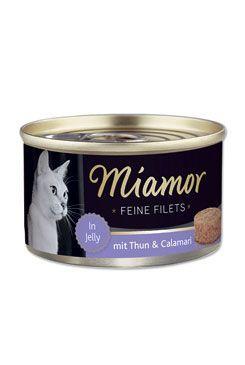 Miamor Cat Filet konzerva tuňák+kalamáry v želé 100g