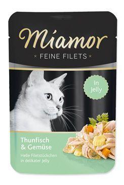 Miamor Cat Filet kapsa tuňák+zelenina v želé 100g