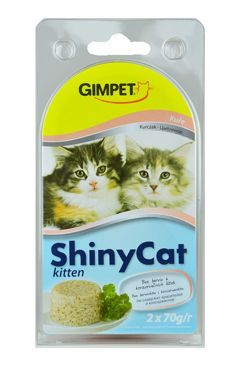 Gimpet kočka konz. ShinyCat  Junior kuře 2x70g