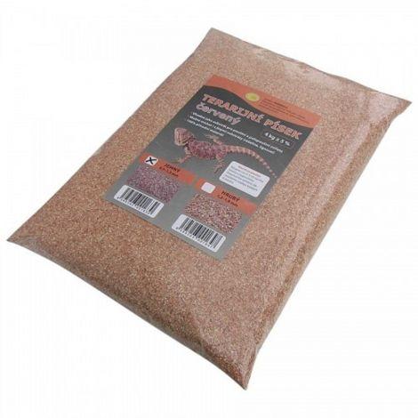Terarijní písek červený 4kg jemný Robimaus