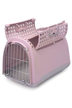 Přepravka pro kočky a psy Cabrio Růžová IMAC